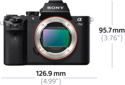 A7II size and weight_a