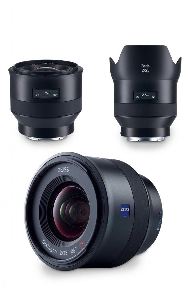 The ZEISS Batis 2/25 is a compact wide-angle lens with an 82° image angle (diagonal).